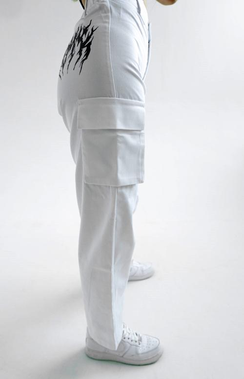 CARGO PANTS 044 WHITE