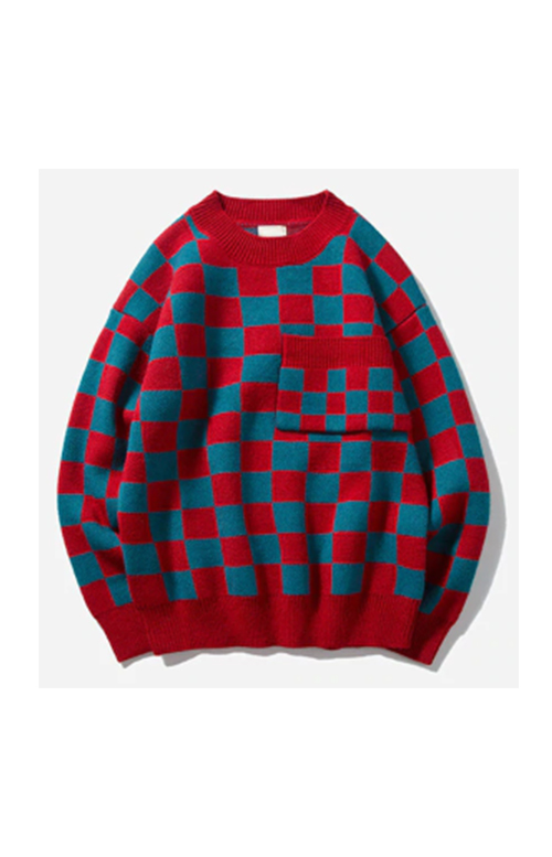 Red/blue sweater