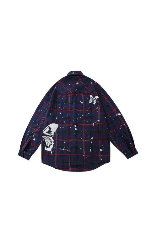 CHECKED BUTTERFLY SHIRT