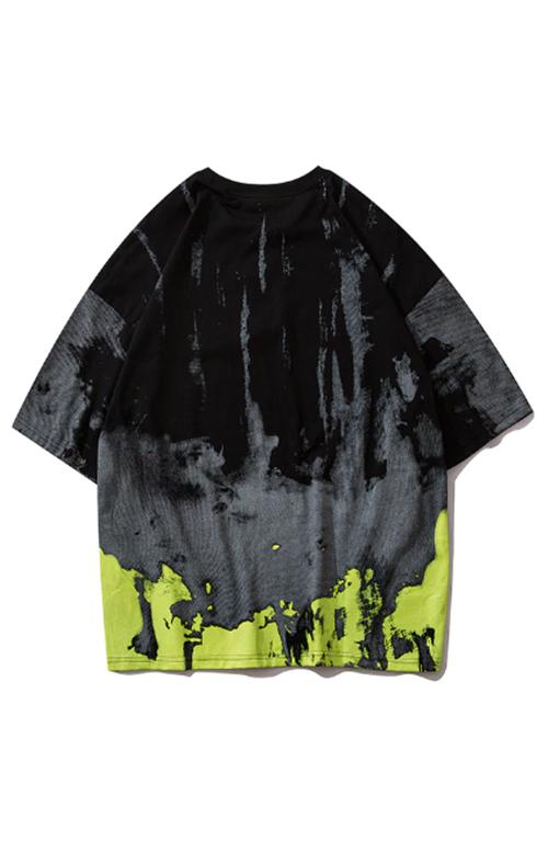 Black/light greent-shirt